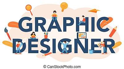 デザイナー, 印刷である, イラストレーター, デジタル, ∥あるいは∥, グラフィック, header., 映像