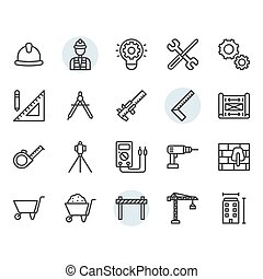 デザインを設定しなさい, シンボル, アイコン, アウトライン, 工学