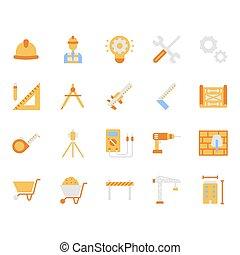 デザインを設定しなさい, 平ら, シンボル, アイコン, 工学