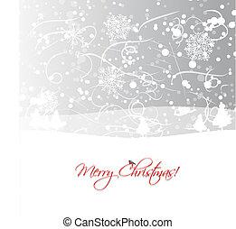 デザイン, あなたの, 背景, クリスマス
