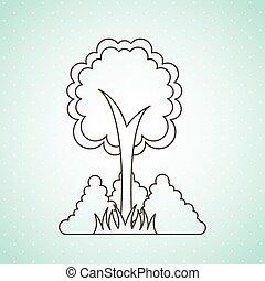 デザイン, アイコン, 木