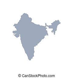 デザイン, インド, 地図, ベクトル, グラフィック