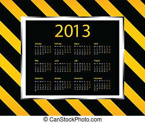デザイン, カレンダー, -, 特別, 2013