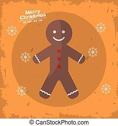 デザイン, クリスマス, 陽気, coockie