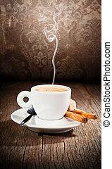 デザイン, コーヒー, まだ, グランジ, 生活