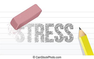 デザイン, ストレス, 概念, 消しなさい, イラスト
