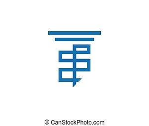 デザイン, テンプレート, ベクトル, アイコン, 柱, ロゴ