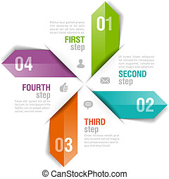 デザイン, テンプレート, infographics