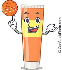 デザイン, バスケットボール, 歯磨き粉, マスコット, 漫画, 運動