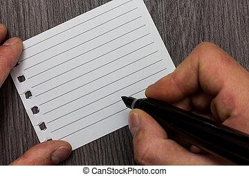 デザイン, ビジネス, 空, テンプレート, 隔離された, ミニマリスト, グラフィック, レイアウト, テンプレート, ∥ために∥, 広告, 人, 保有物, マーカー, ノート, ページ, コミュニケートしなさい, 考え, 木製である, 背景