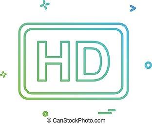 デザイン, ビデオ, ベクトル, 品質, アイコン