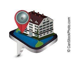 デザイン, フレーム, ホテル, apps, デジタル