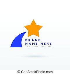 デザイン, ブランド, 星, あなたの, ロゴ