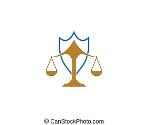 デザイン, ベクトル, 会社, アイコン, 法律, ロゴ, 正義