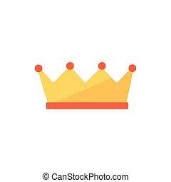 デザイン, ベクトル, 国王の王冠, 隔離された