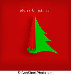 デザイン, ベクトル, 木, あなたの, クリスマス