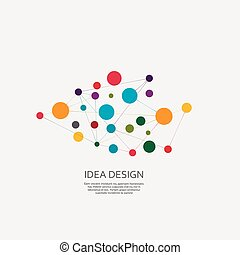 デザイン, ベクトル, 連結しなさい