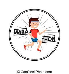 デザイン, マラソン, 競争