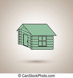 デザイン, 丸太小屋