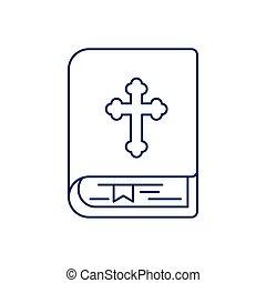 デザイン, 交差点, 線, ベクトル, 隔離された, 聖書