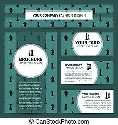 デザイン, 企業である, チェス, アイデンティティー, パターン