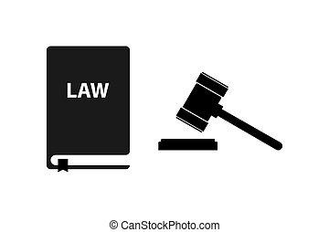 デザイン, 単純である, アイコン, シンボル, 法律