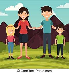 デザイン, 家族, 関係した