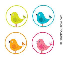 デザイン, 小鳥