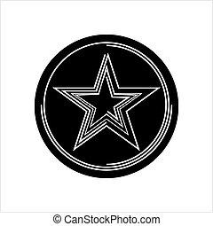 デザイン, 形, 星