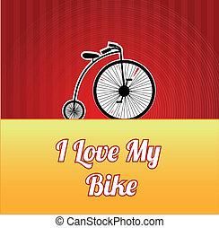デザイン, 愛, の, サイクリング