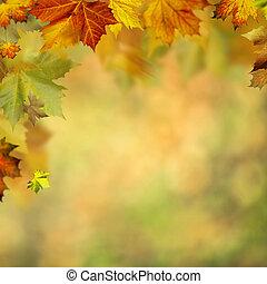 デザイン, 抽象的, 背景, 秋, あなたの