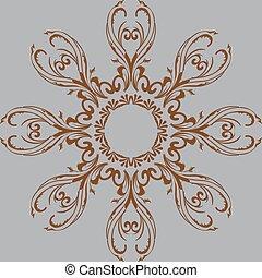 デザイン, 抽象的, pattern., 円