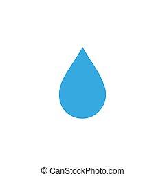 デザイン, 水, アイコン, ベクトル, シンボル