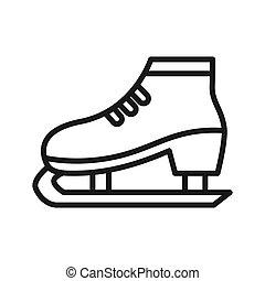デザイン, 氷, イラスト, スケート