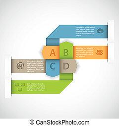 デザイン, 矢, infographics
