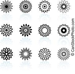 デザイン, 花, コレクション