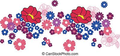 デザイン, 花, 装飾