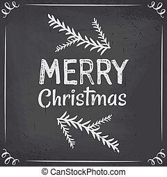 デザイン, 黒板, クリスマス
