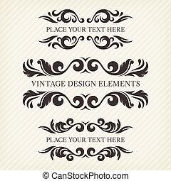 デザイン, 2, セット, 要素