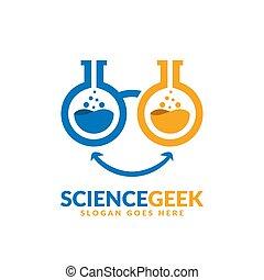 デザイン, 2, テンプレート, レンズ, geek, 科学ラボ, ビーカー, ロゴ, ガラス