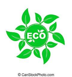 デザイン, eco, ベクトル, element., environment., 味方