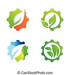 デザイン, eco, ロゴ, 技術