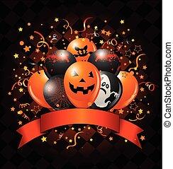デザイン, halloween は風船のようにふくらむ