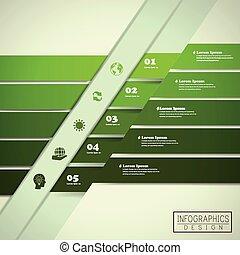デザイン, infographic, エコロジー, テンプレート