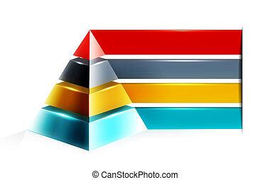 デザイン, infographic, ピラミッド