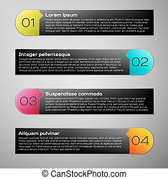 デザイン, infographic, 現代, テンプレート
