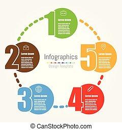 デザイン, infographic, 5, オプション, テンプレート