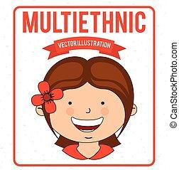 デザイン, multiethnic
