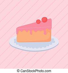 デザート, フルーツ, スライス, ケーキ, 軽食, ペストリー
