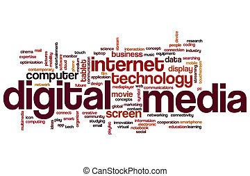 デジタルの媒体, 単語, 雲